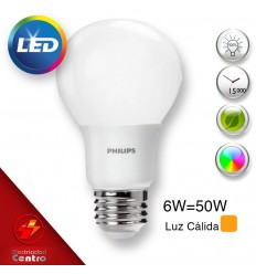 Lampara Philips Led 6w-50w E27 3000k