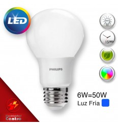 Lampara Philips Led 6w-50w E27 6500k