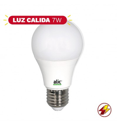 Online Lampara Alic Led A60 7w Luz Calida