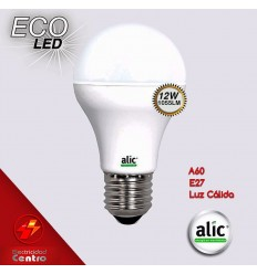 Lampara Alic Led A60 12w Luz Calida