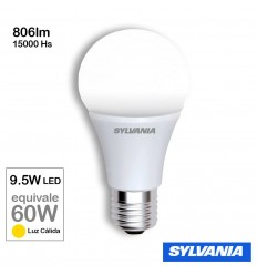 Lampara Sylvania Led 9.5w E27 Calida