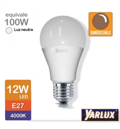 Lampara Yarlux Led 12w 4000k Dimerizable