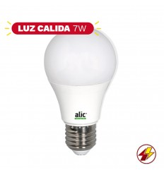 Lampara Led Alic A60 7w Luz Calida